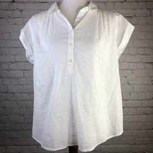 NWT GAP Lightweight Cotton Cuffed Sleeve Top
